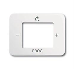 Плата центральная (накладка) для механизма цифрого FM-радио 8215 U, ABB alpha цвет Белый матовый - фото 5030