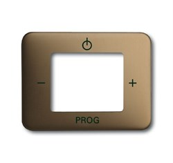 Плата центральная (накладка) для механизма цифрого FM-радио 8215 U, ABB alpha цвет бронза - фото 5032