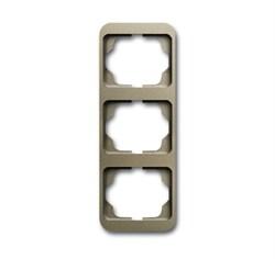 Рамка 3-поста вертикальная, ABB alpha цвет коричневый - фото 5046