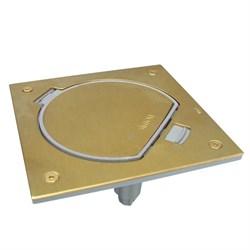 Simon Connect Латунь Влагостойкая основа IP66 с розеткой и коннектором RJ45 (KSE15U-23-71) - фото 5324