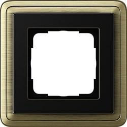 Рамка Gira ClassiX одноместная Бронза-Чёрный 0211622 - фото 5371