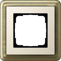 Рамка Gira ClassiX одноместная Бронза-кремовый 0211623 - фото 5372