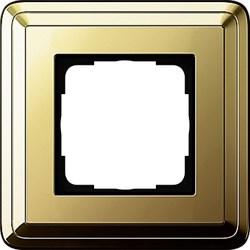 Рамка Gira ClassiX одноместная Латунь 0211631 - фото 5373