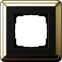 Рамка Gira ClassiX одноместная Латунь-Чёрный 0211632 - фото 5374