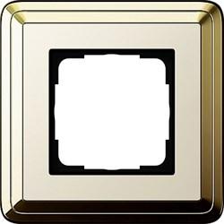 Рамка Gira ClassiX одноместная Латунь-кремовый 0211633 - фото 5375