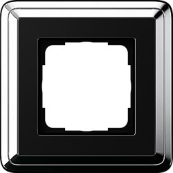 Рамка Gira ClassiX одноместная Хром-Чёрный 0211642 - фото 5377