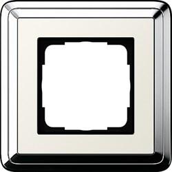Рамка Gira ClassiX одноместная Хром-кремовый 0211643 - фото 5378