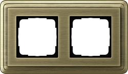 Рамка Gira ClassiX двухместная Бронза 0212621 - фото 5379