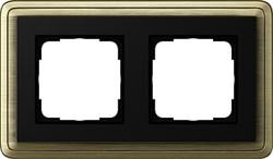 Рамка Gira ClassiX двухместная Бронза-Чёрный 0212622 - фото 5380