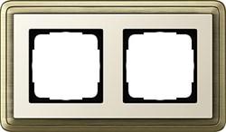 Рамка Gira ClassiX двухместная Бронза-кремовый 0212623 - фото 5381