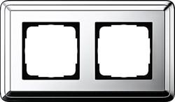 Рамка Gira ClassiX двухместная Хром 0212641 - фото 5385