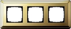 Рамка Gira ClassiX трехместная Латунь 0213631 - фото 5390