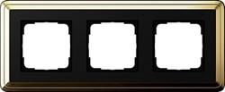 Рамка Gira ClassiX трехместная Латунь-Чёрный 0213632 - фото 5391