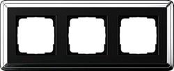 Рамка Gira ClassiX трехместная Хром-Чёрный 0213642 - фото 5394