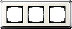 Рамка Gira ClassiX трехместная Хром-кремовый 0213643 - фото 5395