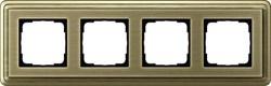 Рамка Gira ClassiX четырехместная Бронза 0214621 - фото 5396