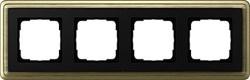 Рамка Gira ClassiX четырехместная Бронза-Чёрный 0214622 - фото 5397