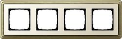 Рамка Gira ClassiX четырехместная Бронза-кремовый 0214623 - фото 5398