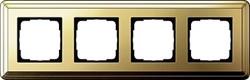 Рамка Gira ClassiX четырехместная Латунь 0214631 - фото 5399