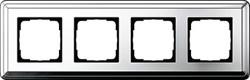 Рамка Gira ClassiX четырехместная Хром 0214641 - фото 5402
