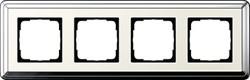 Рамка Gira ClassiX четырехместная Хром-кремовый 0214643 - фото 5404