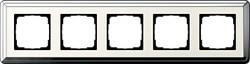 Рамка Gira ClassiX пятиместная Хром-кремовый 0215643 - фото 5413