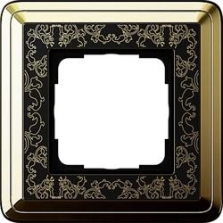 Рамка Gira ClassiX Art одноместная Латунь-Чёрный 0211672 - фото 5418