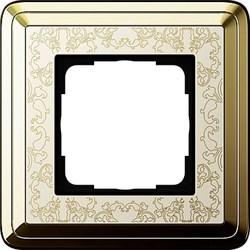 Рамка Gira ClassiX Art одноместная Латунь-кремовый 0211673 - фото 5419