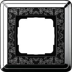 Рамка Gira ClassiX Art одноместная Хром-Чёрный 0211682 - фото 5421
