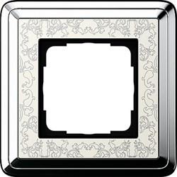 Рамка Gira ClassiX Art одноместная Хром-кремовый 0211683 - фото 5422