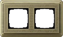 Рамка Gira ClassiX Art двухместная Бронза 0212661 - фото 5423