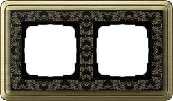 Рамка Gira ClassiX Art двухместная Бронза-Чёрный 0212662 - фото 5424
