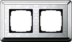 Рамка Gira ClassiX Art двухместная Хром 0212681 - фото 5429
