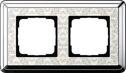 Рамка Gira ClassiX Art двухместная Хром-кремовый 0212683 - фото 5431