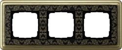 Рамка Gira ClassiX Art трехместная Бронза-Чёрный 0213662 - фото 5433