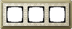 Рамка Gira ClassiX Art трехместная Бронза-кремовый 0213663 - фото 5434