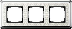 Рамка Gira ClassiX Art трехместная Хром-кремовый 0213683 - фото 5440