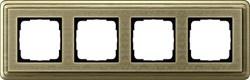 Рамка Gira ClassiX Art четырехместная Бронза 0214661 - фото 5441