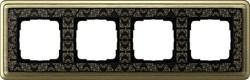 Рамка Gira ClassiX Art четырехместная Бронза-Чёрный 0214662 - фото 5442