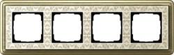 Рамка Gira ClassiX Art четырехместная Бронза-кремовый 0214663 - фото 5443