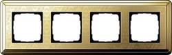 Рамка Gira ClassiX Art четырехместная Латунь 0214671 - фото 5444