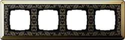 Рамка Gira ClassiX Art четырехместная Латунь-Чёрный 0214672 - фото 5445