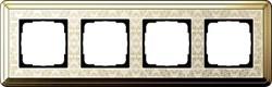 Рамка Gira ClassiX Art четырехместная Латунь-кремовый 0214673 - фото 5446