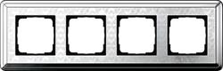 Рамка Gira ClassiX Art четырехместная Хром 0214681 - фото 5447