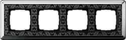 Рамка Gira ClassiX Art четырехместная Хром-Чёрный 0214682 - фото 5448