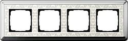 Рамка Gira ClassiX Art четырехместная Хром-кремовый 0214683 - фото 5449