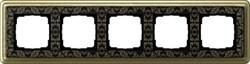 Рамка Gira ClassiX Art пятиместная Бронза-Чёрный - фото 5451