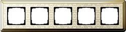 Рамка Gira ClassiX Art пятиместная Латунь-кремовый 0215673 - фото 5455