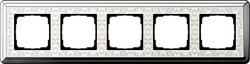 Рамка Gira ClassiX Art пятиместная Хром-кремовый 0215683 - фото 5458