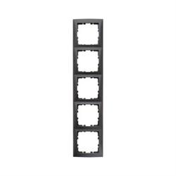 Рамкa 5-постов, Berker S.1, цвет: антрацит, матовый 10159949 - фото 5526